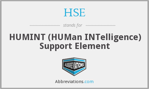 HSE - HUMINT (HUMan INTelligence) Support Element