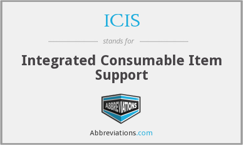 ICIS - Integrated Consumable Item Support