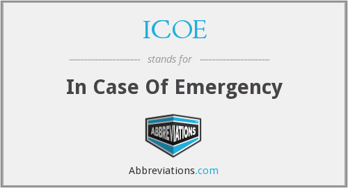 ICOE - In Case Of Emergency