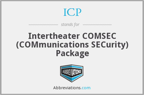 ICP - Intertheater COMSEC (COMmunications SECurity) Package