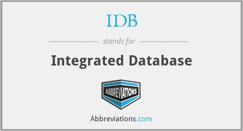 IDB - Integrated Database
