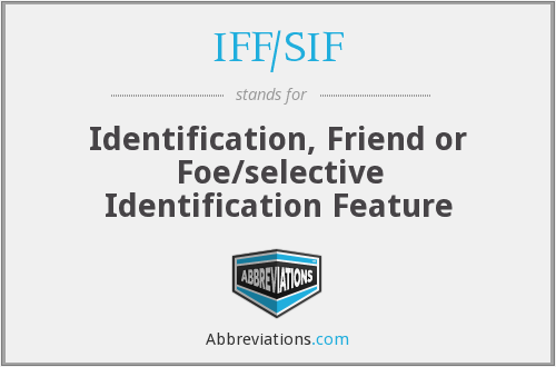 IFF/SIF - Identification, Friend or Foe/selective Identification Feature