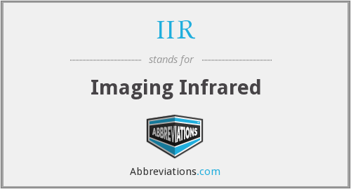 IIR - Imaging Infrared