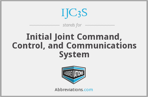 What does IJC3S stand for?