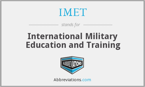 IMET - International Military Education and Training