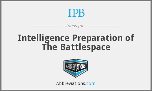 IPB - Intelligence Preparation of The Battlespace