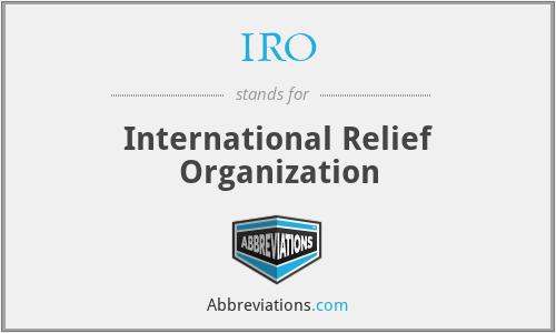 IRO - International Relief Organization