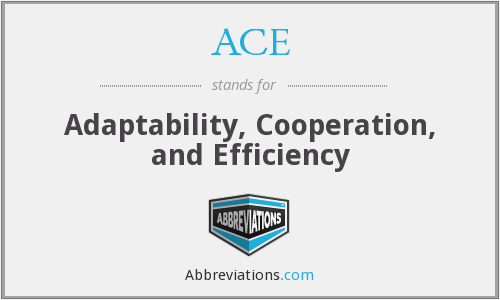 ACE - Adaptability, Cooperation, and Efficiency