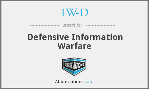 IW-D - Defensive Information Warfare