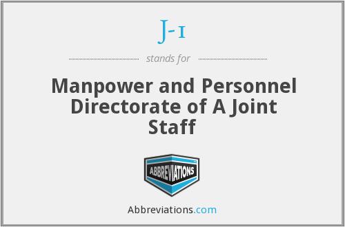 J-1 - Manpower and Personnel Directorate of A Joint Staff