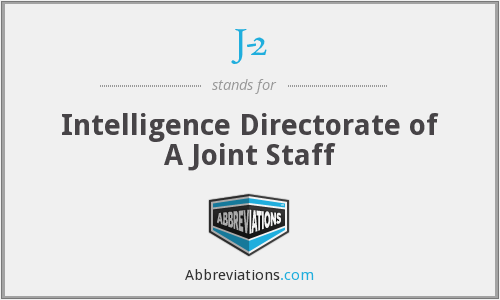 J-2 - Intelligence Directorate of A Joint Staff