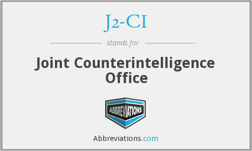 J2-CI - Joint Counterintelligence Office