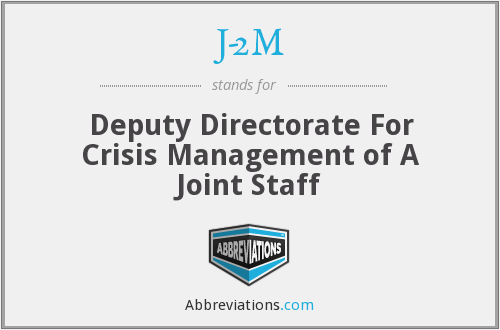 J-2M - Deputy Directorate For Crisis Management of A Joint Staff