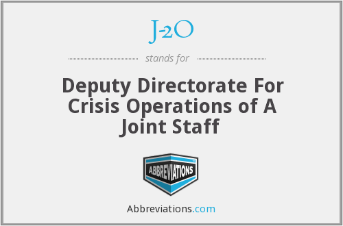 J-2O - Deputy Directorate For Crisis Operations of A Joint Staff