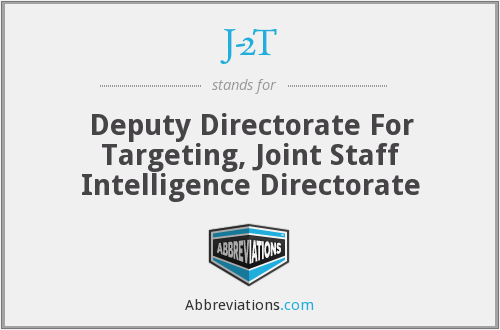J-2T - Deputy Directorate For Targeting, Joint Staff Intelligence Directorate