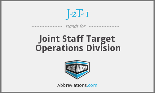 J-2T-1 - Joint Staff Target Operations Division