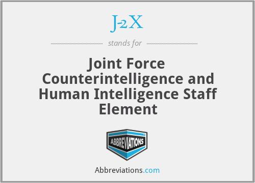 J-2X - Joint Force Counterintelligence and Human Intelligence Staff Element