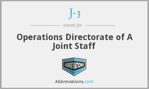 J-3 - Operations Directorate of A Joint Staff