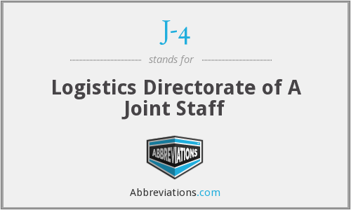 J-4 - Logistics Directorate of A Joint Staff