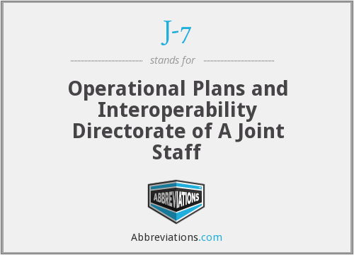 J-7 - Operational Plans and Interoperability Directorate of A Joint Staff