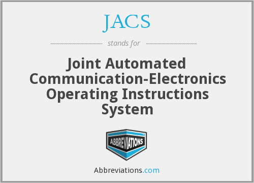 JACS - Joint Automated Communication-Electronics Operating Instructions System