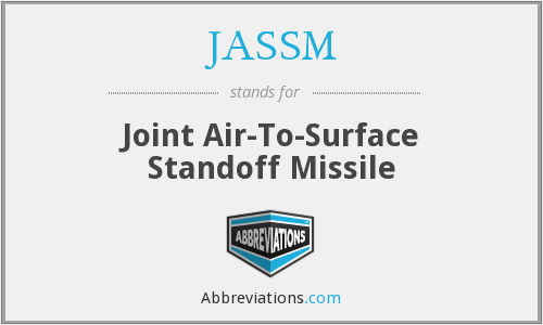 JASSM - Joint Air-To-Surface Standoff Missile