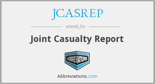 What does JCASREP stand for?