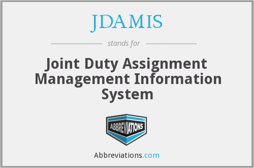 What does JDAMIS stand for?