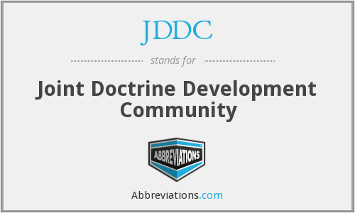 JDDC - Joint Doctrine Development Community