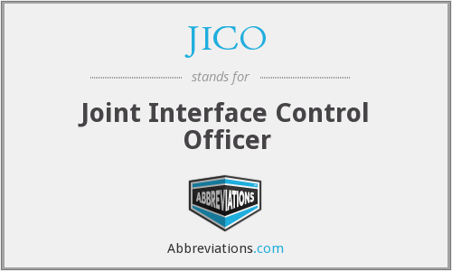 JICO - Joint Interface Control Officer