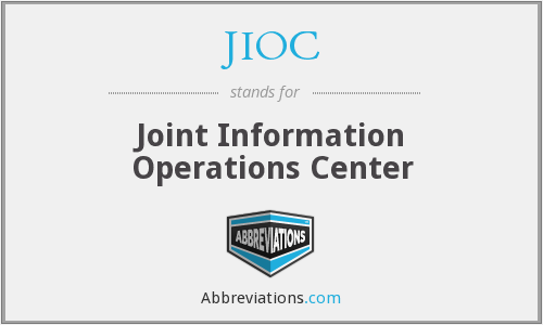 JIOC - Joint Information Operations Center