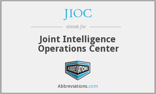 JIOC - Joint Intelligence Operations Center