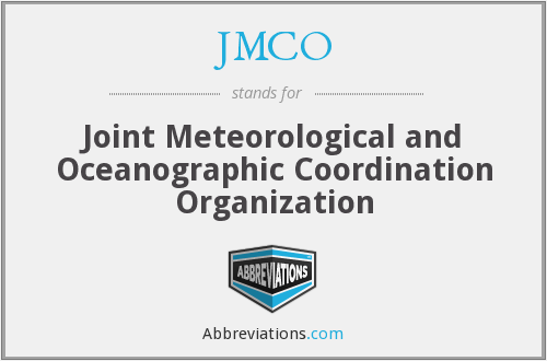 JMCO - Joint Meteorological and Oceanographic Coordination Organization