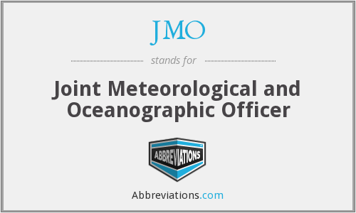 JMO - Joint Meteorological and Oceanographic Officer