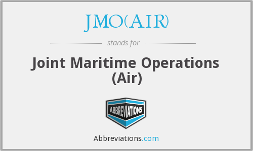 What does JMO(AIR) stand for?
