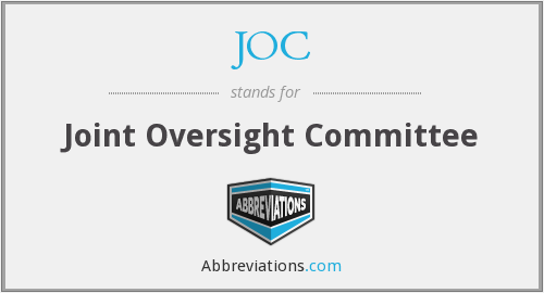 JOC - Joint Oversight Committee