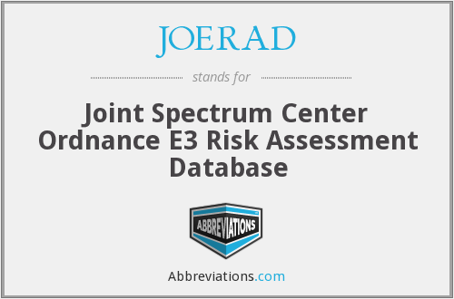 JOERAD - Joint Spectrum Center Ordnance E3 Risk Assessment Database