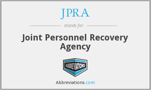 JPRA - Joint Personnel Recovery Agency