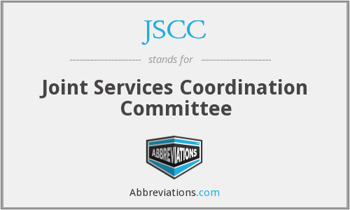 JSCC - Joint Services Coordination Committee