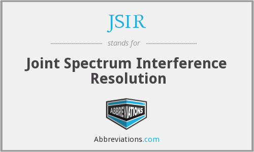 JSIR - Joint Spectrum Interference Resolution