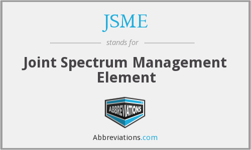 JSME - Joint Spectrum Management Element