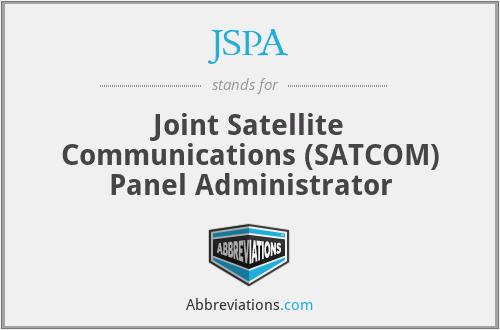 JSPA - Joint Satellite Communications (SATCOM) Panel Administrator