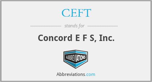 CEFT - Concord E F S, Inc.