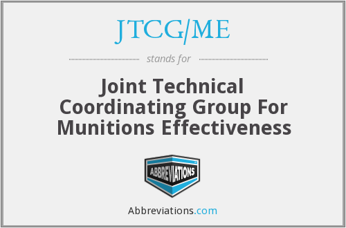 What does JTCG/ME stand for?