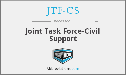 What does JTF-CS stand for?