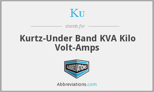 Ku - Kurtz-Under Band KVA Kilo Volt-Amps