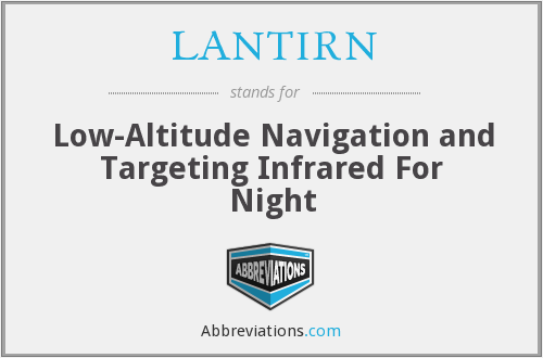 LANTIRN - Low-Altitude Navigation and Targeting Infrared For Night