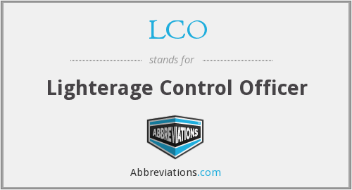 LCO - Lighterage Control Officer