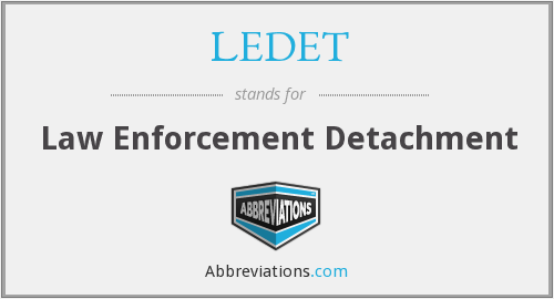 What does LEDET stand for?