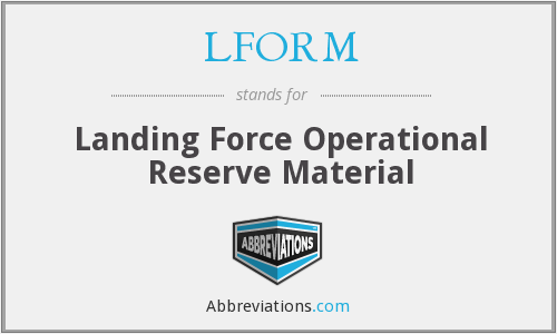 What does LFORM stand for?